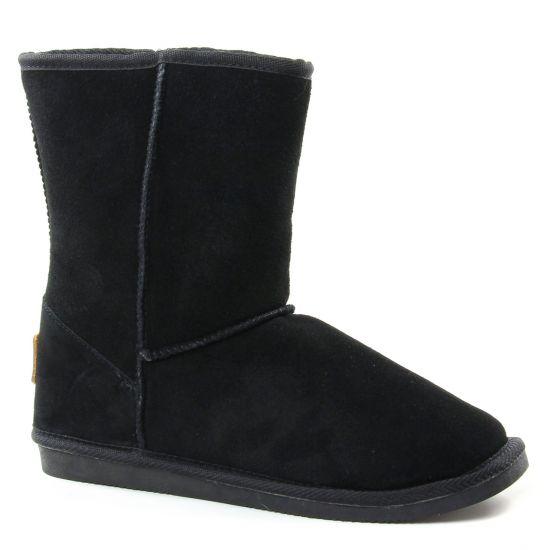 Bottines Et Boots Les Tropeziennes Snow Noir, vue principale de la chaussure femme