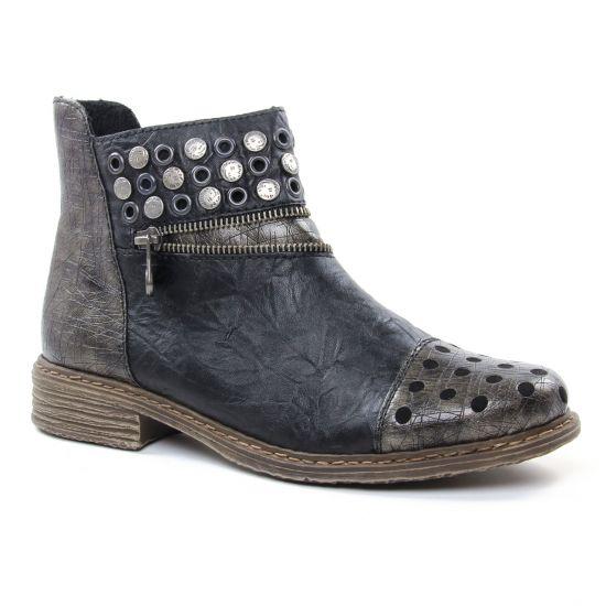 Bottines Et Boots Rieker Z2163-90 Gris, vue principale de la chaussure femme