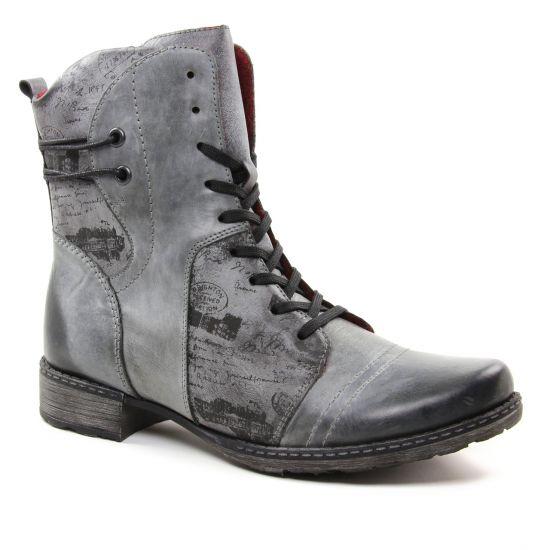 Bottines Et Boots Remonte D4366 Negro, vue principale de la chaussure femme