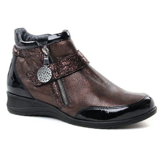 Bottines Et Boots Geo Reino Barado Moka, vue principale de la chaussure femme