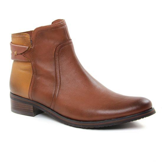 Bottines Et Boots Fugitive Valejo Nappa Camel, vue principale de la chaussure femme