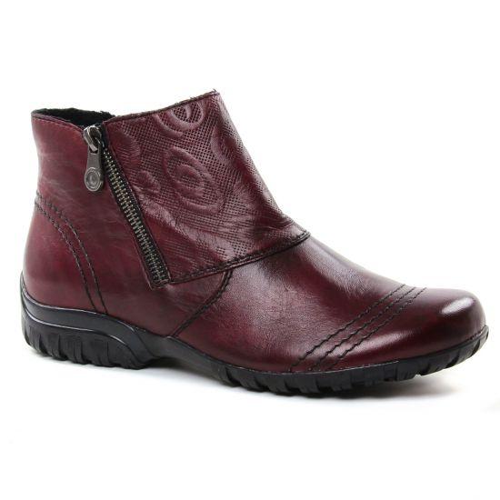 Bottines Et Boots Rieker Z4682-35 Bordeaux, vue principale de la chaussure femme