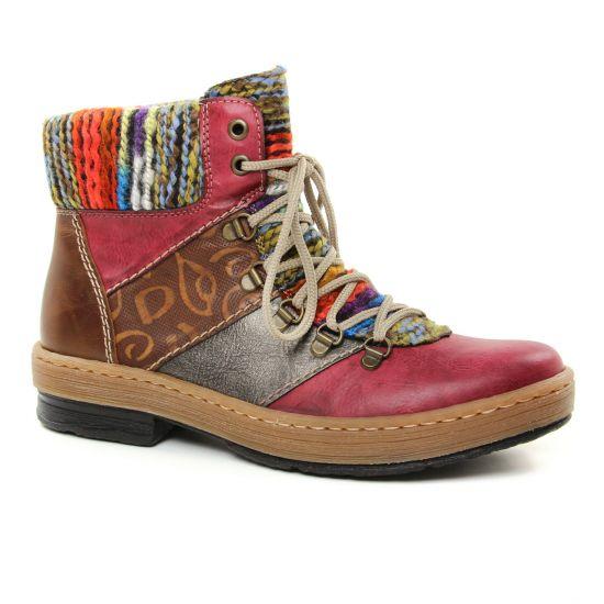 Bottines Et Boots Rieker Z6744-35 Wine, vue principale de la chaussure femme