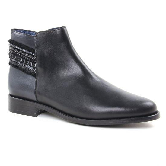 Bottines Et Boots Pintodiblu 80241 Noir   Gris, vue principale de la chaussure femme