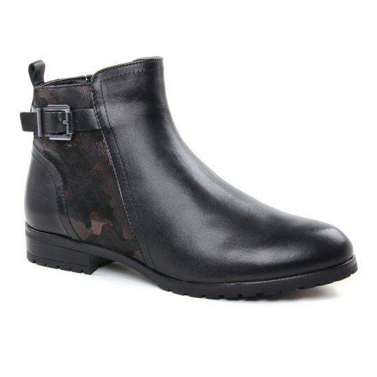 Bottines Et Boots Caprice 25350 Black Camou, vue principale de la chaussure femme