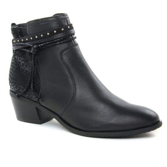 Bottines Et Boots Fugitive Sobey Nappa Noir, vue principale de la chaussure femme