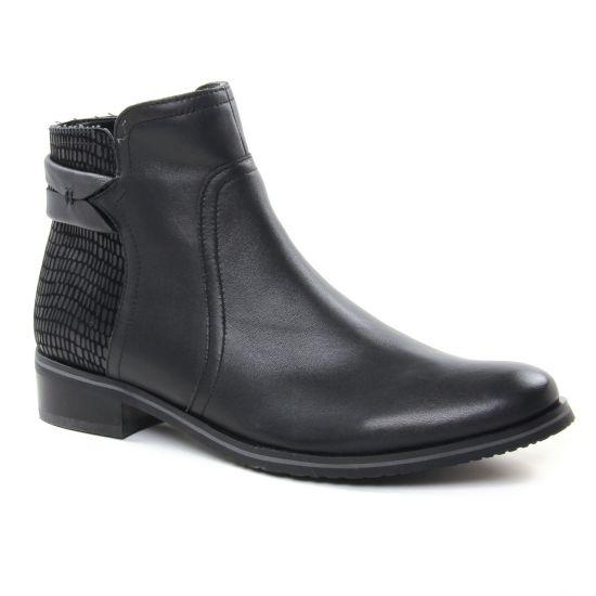 Bottines Et Boots Fugitive Valejo Noir, vue principale de la chaussure femme