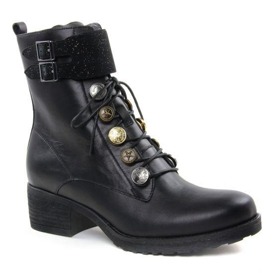 Bottines Et Boots Mamzelle Dulin Noir, vue principale de la chaussure femme