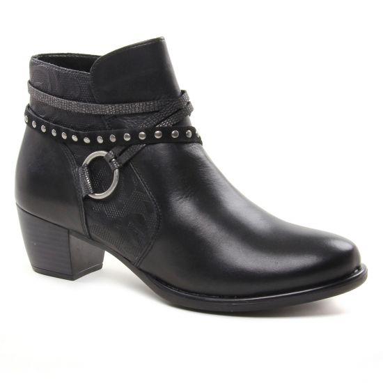 Bottines Et Boots Remonte R2678 Schwarz, vue principale de la chaussure femme