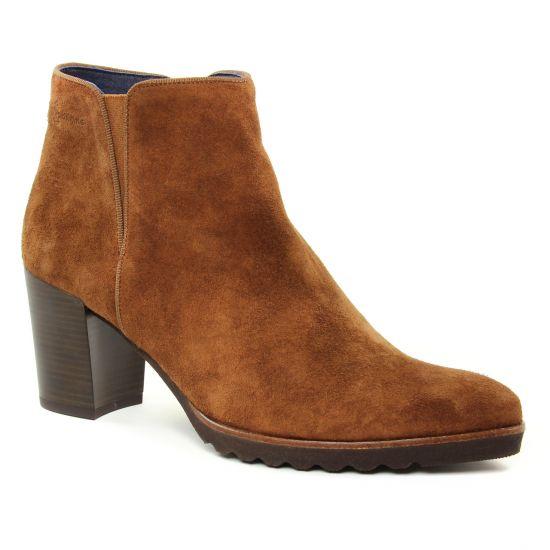 Dorking Thais D7224 Cuir | boot talon marron automne hiver