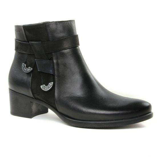 Bottines Et Boots Dorking Alegria D7632 Noir, vue principale de la chaussure femme