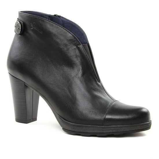 Bottines Et Boots Dorking Reina D7643 Noir, vue principale de la chaussure femme