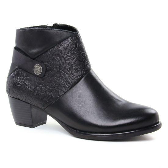 Bottines Et Boots Remonte R2677 Schwarz, vue principale de la chaussure femme