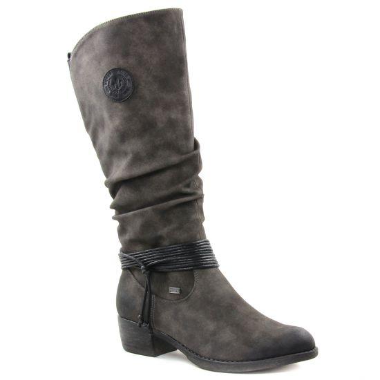 Bottes Rieker 93154-45 Anthracite, vue principale de la chaussure femme