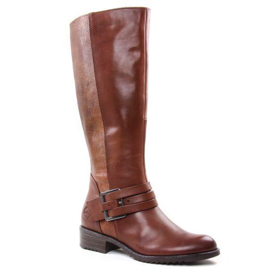 Bottes Marco Tozzi 25609 Cognac, vue principale de la chaussure femme