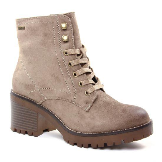 Bottines Et Boots Mtng 57511 Microfiber Taupe, vue principale de la chaussure femme