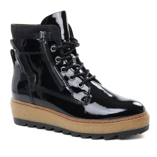 25223 Tamaris à Black Patentbottine noir automne lacets N8m0wn
