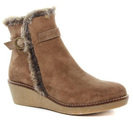 Bottines Et Boots Maria Jaen 7176 Taupe, vue principale de la chaussure femme