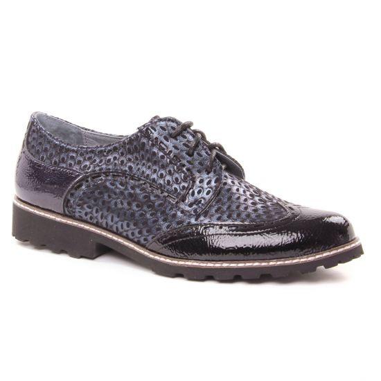Chaussures À Lacets Fugitive Weyer Vernis Navy, vue principale de la chaussure femme