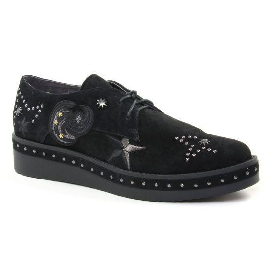 Chaussures À Lacets Mamzelle Kareni Noir, vue principale de la chaussure femme