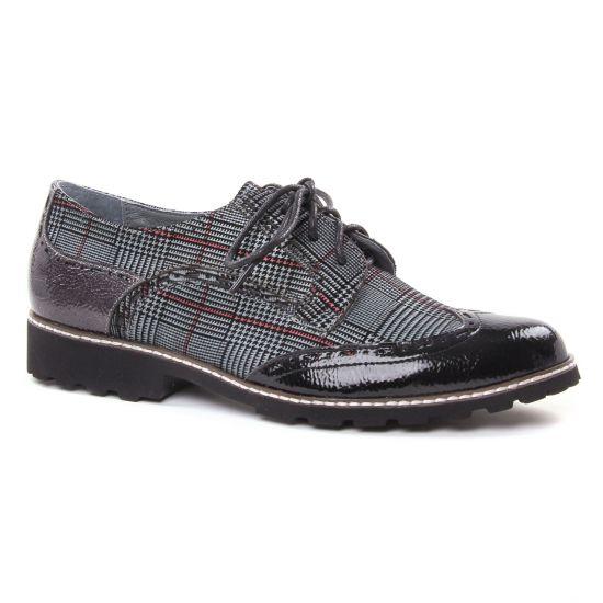 Chaussures À Lacets Fugitive Weyer Vernis Gris, vue principale de la chaussure femme