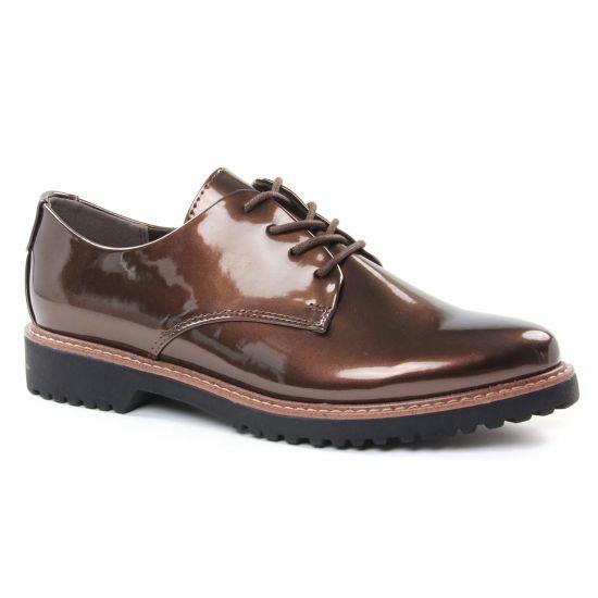 Chaussures À Lacets Marco Tozzi 23712 Bronze, vue principale de la chaussure femme