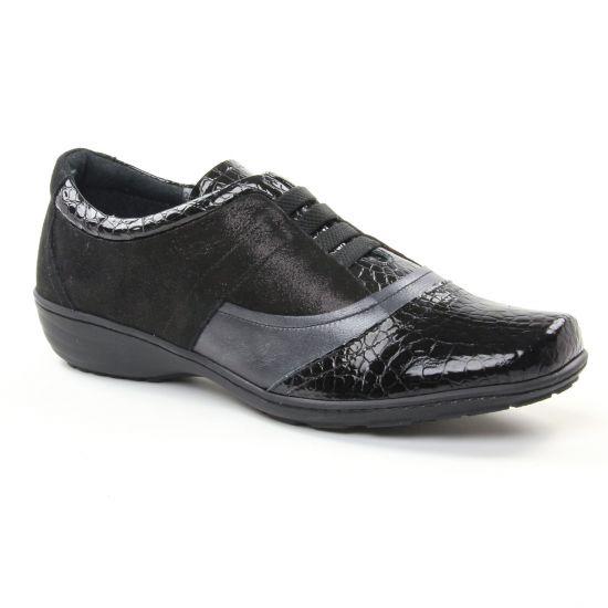 Chaussures À Lacets Geo Reino Inbabe Noir Cosmos, vue principale de la chaussure femme