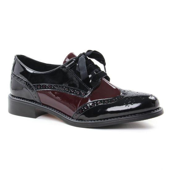 Chaussures À Lacets Scarlatine 22003 Noir Wyne, vue principale de la chaussure femme