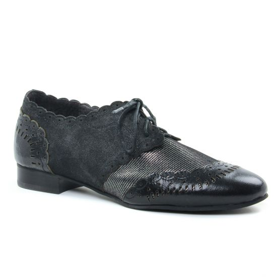 Chaussures À Lacets Mamzelle Zano Noir, vue principale de la chaussure femme