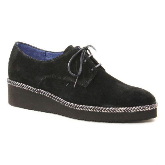 Chaussures À Lacets Pintodiblu 20462 Noir, vue principale de la chaussure femme