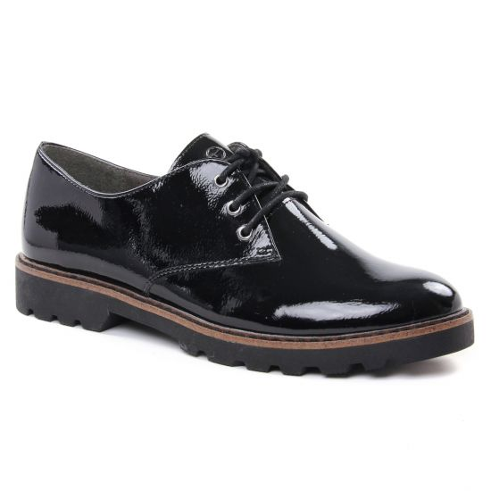 Chaussures À Lacets Tamaris 23742 Black Patent, vue principale de la chaussure femme