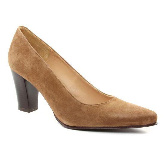 Escarpins Scarlatine Froufrou Marron, vue principale de la chaussure femme