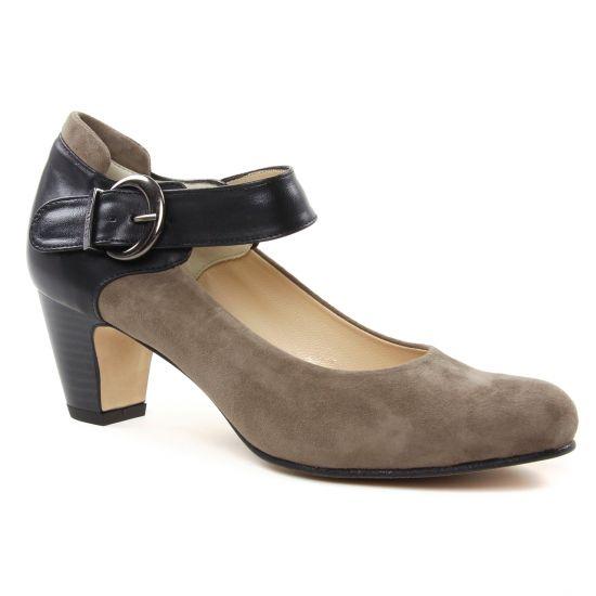 Escarpins Perlato 10914 Velour Piet Noir, vue principale de la chaussure femme