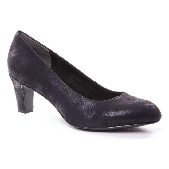 Escarpins Tamaris 22418 Black Metal, vue principale de la chaussure femme