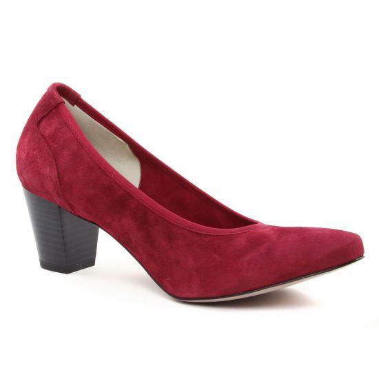 Escarpins Perlato 10362 Velours Rouge, vue principale de la chaussure femme