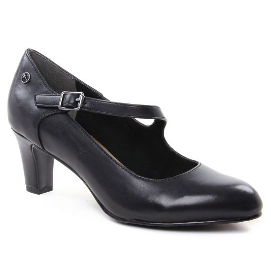 Escarpins Tamaris 24402 Black Leather, vue principale de la chaussure femme