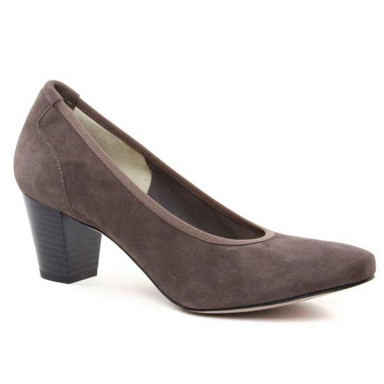 Escarpins Perlato 10362 Velour Terra, vue principale de la chaussure femme