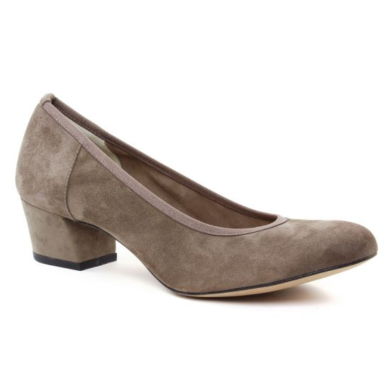 Escarpins Perlato 10366 Velours Pietra, vue principale de la chaussure femme