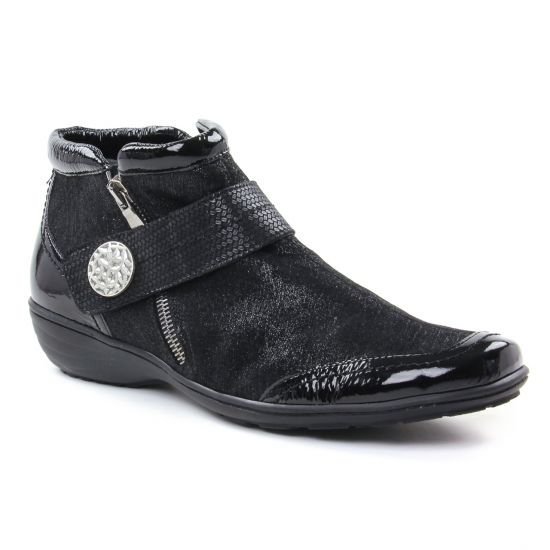 Bottines Et Boots Geo Reino Istaba Noir, vue principale de la chaussure femme
