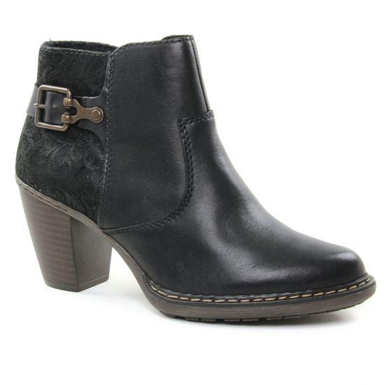 Bottines Et Boots Rieker 55292-00 Schwarz, vue principale de la chaussure femme