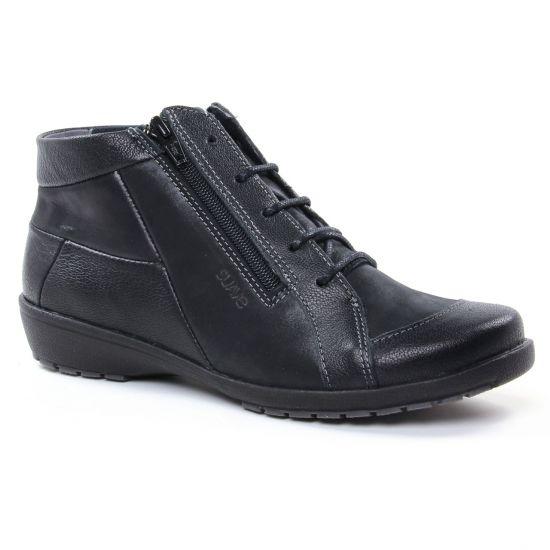 Bottines Et Boots Suave 8070Kc Noir, vue principale de la chaussure femme