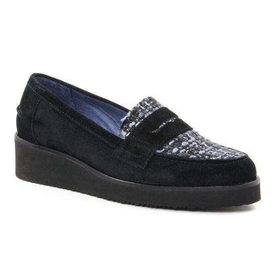 Mocassins Pintodiblu 10572 Noir, vue principale de la chaussure femme