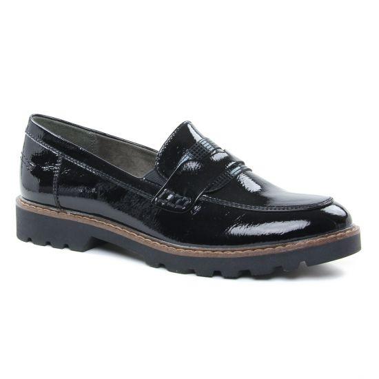 Mocassins Tamaris 24312 Black Patent, vue principale de la chaussure femme