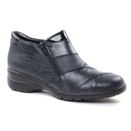 Mocassins Rieker L4373-14 Navy, vue principale de la chaussure femme