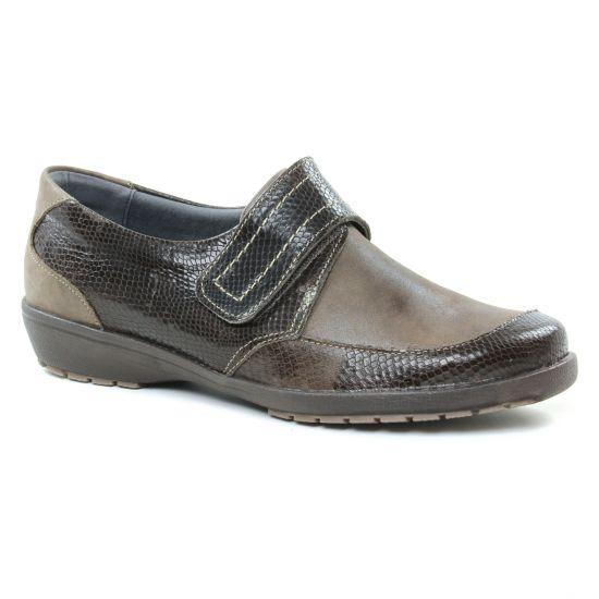 Mocassins Suave 8010Kc Coyotte, vue principale de la chaussure femme