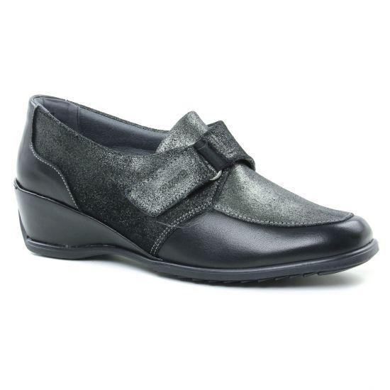 Mocassins Suave 5016Kc Black Titanium, vue principale de la chaussure femme