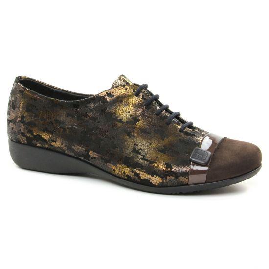 Chaussures À Lacets Hirica 38905Pc Bronze, vue principale de la chaussure femme