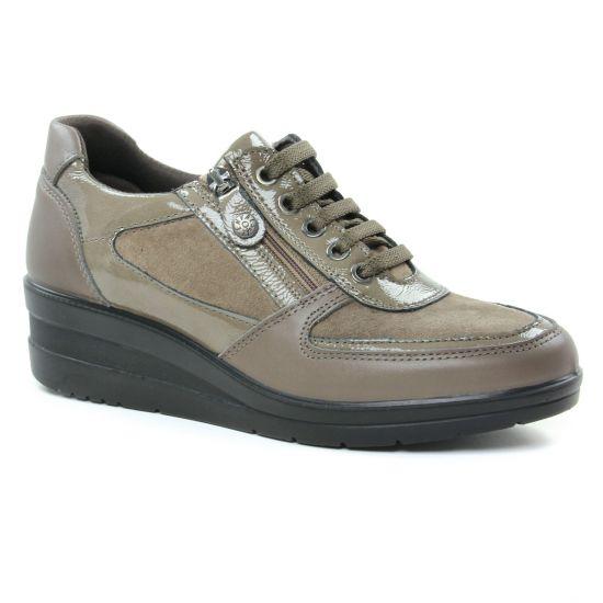 Tennis Et Baskets Mode Enval 2267433 Taupe, vue principale de la chaussure femme