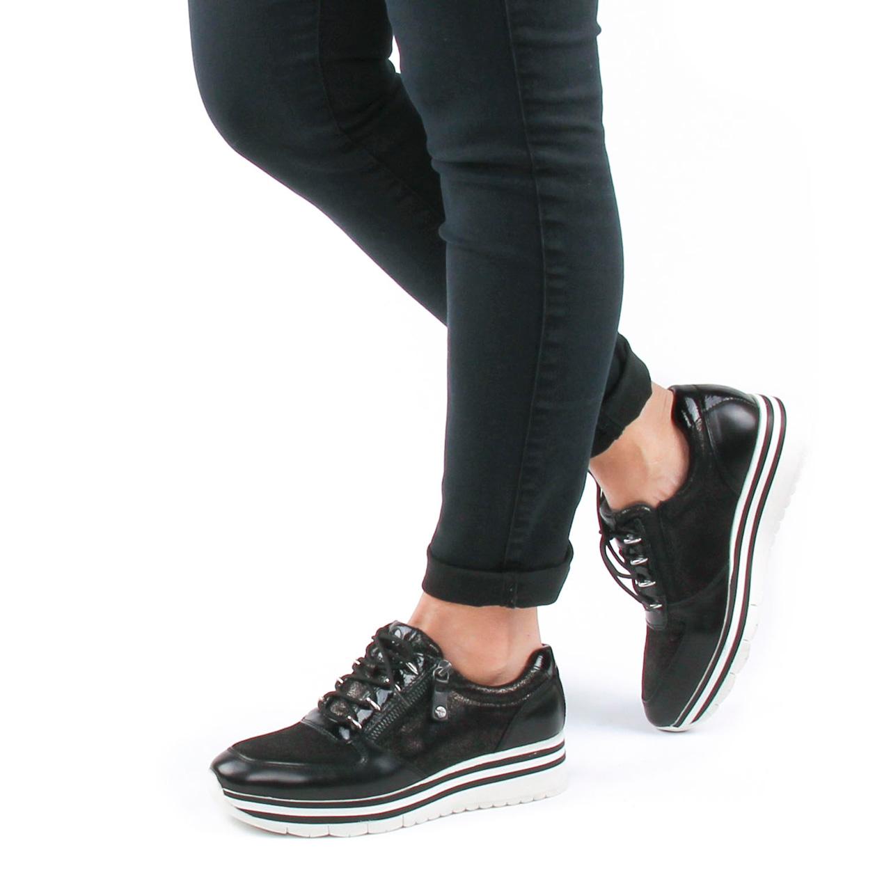 Tamaris 23739 Black | basket mode noir argent automne hiver