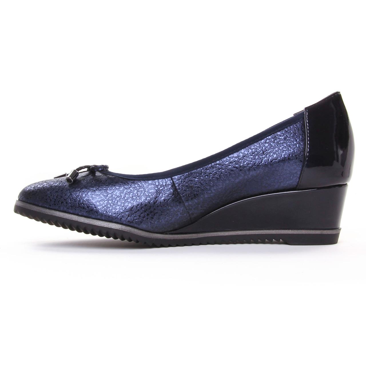 Tamaris Cuir synthétique Bleu Femme Ballerines Chaussures